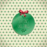 Diseño de la tarjeta de Navidad Imágenes de archivo libres de regalías