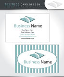 Diseño de la tarjeta de visita Imagen de archivo libre de regalías
