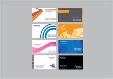Diseño de la tarjeta de visita Fotografía de archivo