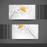 Diseño de la tarjeta de visita Imágenes de archivo libres de regalías