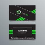 Diseño de la tarjeta de visita Fotos de archivo libres de regalías
