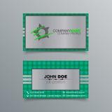 Diseño de la tarjeta de visita Fotos de archivo