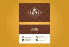Diseño de la tarjeta de visita del café Foto de archivo libre de regalías