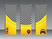 Diseño de la tarjeta de visita para las compañías del taxi stock de ilustración