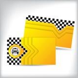 Diseño de la tarjeta de visita para los taxistas Foto de archivo