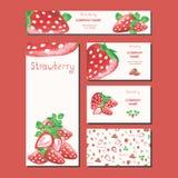 Diseño de la tarjeta de visita Plantilla del supermercado Fruta Fotografía de archivo