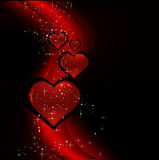Diseño de la tarjeta del día de San Valentín Foto de archivo