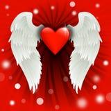 Diseño de la tarjeta del día de San Valentín Fotos de archivo