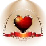 Diseño de la tarjeta del día de San Valentín Imágenes de archivo libres de regalías