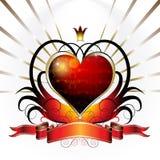 Diseño de la tarjeta del día de San Valentín Foto de archivo libre de regalías