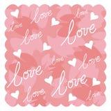 Diseño de la tarjeta del día de San Valentín Fotografía de archivo