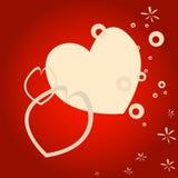 Diseño de la tarjeta del día de San Valentín Fotos de archivo libres de regalías