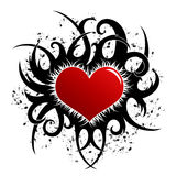 Diseño de la tarjeta del día de San Valentín (incl del vector) Imagenes de archivo