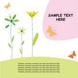 Diseño de la tarjeta/del resorte de felicitación imagen de archivo libre de regalías
