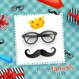 Diseño de la tarjeta de felicitación de la celebración del día de S del padre feliz '