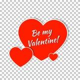 Diseño de la tarjeta de felicitación del día de tarjetas del día de San Valentín Imágenes de archivo libres de regalías