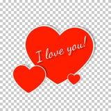 Diseño de la tarjeta de felicitación del día de tarjetas del día de San Valentín Fotografía de archivo libre de regalías