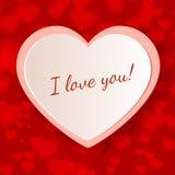 Diseño de la tarjeta de felicitación del día de tarjetas del día de San Valentín Foto de archivo libre de regalías
