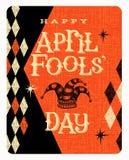 Diseño de la tarjeta o de la bandera de April Fools Day del vector stock de ilustración