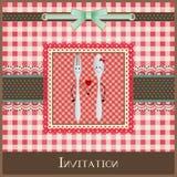 Diseño de la tarjeta o del menú de felicitación Foto de archivo libre de regalías