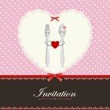 Diseño de la tarjeta o del menú de felicitación Fotografía de archivo libre de regalías