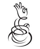 Diseño de la taza de café Foto de archivo