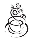 Diseño de la taza de café Foto de archivo libre de regalías
