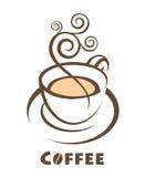 Diseño de la taza de café Fotos de archivo libres de regalías