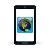 Diseño de la tecnología Medios icono social Concepto de Smartphone Imágenes de archivo libres de regalías