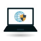 Diseño de la tecnología Medios icono social Ilustración de la computadora portátil Imágenes de archivo libres de regalías