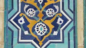 Diseño de la teja de la flor almacen de metraje de vídeo