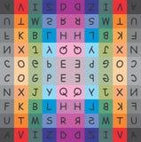 Diseño de la tipografía Foto de archivo libre de regalías
