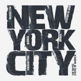 Diseño de la tipografía de New York City Fotografía de archivo