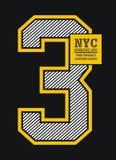 Diseño de la tipografía de Nueva York, imagen del vector Fotografía de archivo libre de regalías