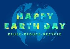 Diseño de la tipografía del Día de la Tierra ilustración del vector