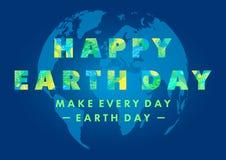 Diseño de la tipografía del Día de la Tierra libre illustration
