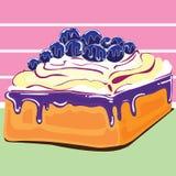 Diseño de la torta del arándano Imagen de archivo