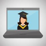 Diseño de la universidad ejemplo de la graduación y de la educación Foto de archivo libre de regalías