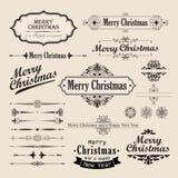 Diseño de la vendimia de la Navidad Imagenes de archivo