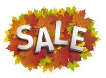 Diseño de la venta de la caída Descuento del otoño Hojas de la caída del vector Vector el ejemplo del cartel de la venta de la ca Imágenes de archivo libres de regalías