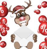 Diseño de la venta de la Navidad del reno ilustración del vector