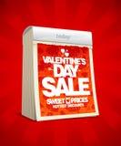Diseño de la venta del día de tarjetas del día de San Valentín. Imagenes de archivo