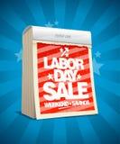 Diseño de la venta del Día del Trabajo en la forma de calendario Foto de archivo libre de regalías