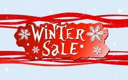 Diseño de la venta del invierno Fotografía de archivo libre de regalías
