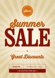 Diseño de la venta del verano del vintage Fotos de archivo libres de regalías