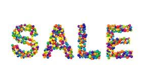 Diseño de la venta formado de bolas coloreadas arco iris Foto de archivo libre de regalías