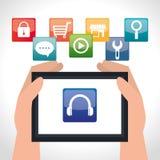 Diseño de las aplicaciones móviles del comercio electrónico y del mercado Imagen de archivo libre de regalías
