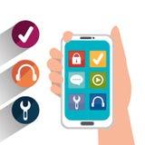 Diseño de las aplicaciones móviles del comercio electrónico y del mercado Fotos de archivo