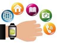 Diseño de las aplicaciones móviles del comercio electrónico y del mercado Fotografía de archivo