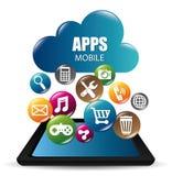 Diseño de las aplicaciones móviles del comercio electrónico y del mercado Imágenes de archivo libres de regalías